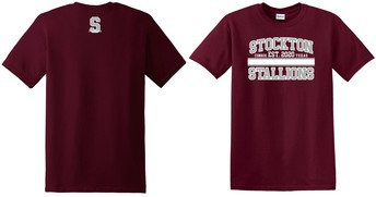 $10 Maroon T-Shirt