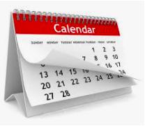 Important Calendar Reminders: