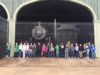 4th graders at the Railroad Museum (they also hitched a  ride on a train!)