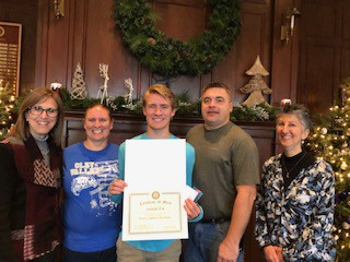 Rotary Club Student of the Month; Jordan Eck