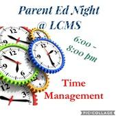 PTA Parent Time Management Night