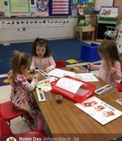 Painting in Preschool!