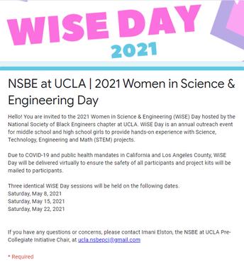Women in Science & Engineering Day
