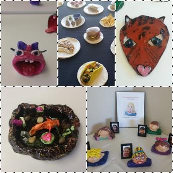3rd Grade Clay Exhibit