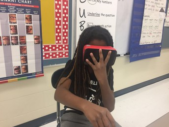 Virtual reality trip to the Grand Canyon in 5th grade