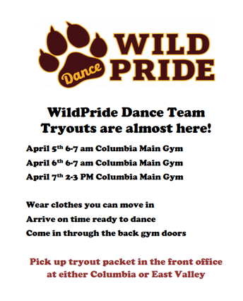 Columbia WildPride Dance Team Tryouts
