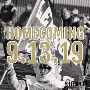 Homecoming Week is September 9-13!
