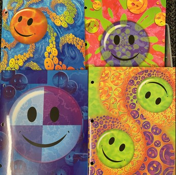 Smiley Face 2 Pocket Folder
