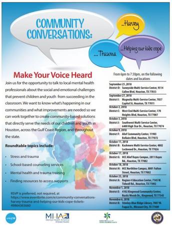 Community Conversations: Make Your Voice Heard