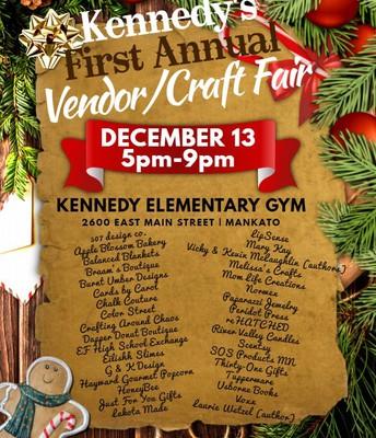 Kennedy's First Vendor/Craft Fair - 12/13