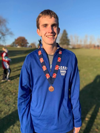Brandon Barker Medals at State Cross Country