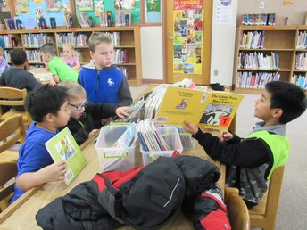 Second grade students enjoyed sharing their love of books with classmates.