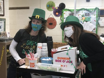 St. Patrick'sd Day Coffee Cart for Staff