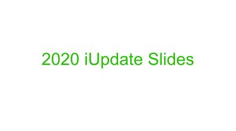 2020 iUpdate Reminder