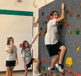 Traversing wall in PE class