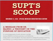 American Education Week Edition of the Supt's Scoop