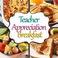 Annual Teacher & Staff Appreciation Breakfast - Sign Up