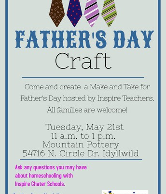 Inspire's Father's Day Craft Event!