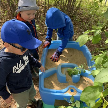 Pathways having fun in the sand
