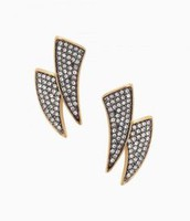 Pave Horn Earrings - 3-in-1