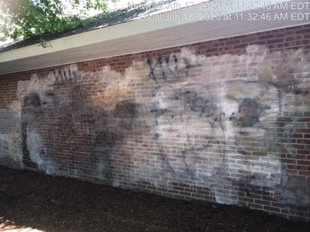 Queen City BNI members worked hard to remove graffiti and...