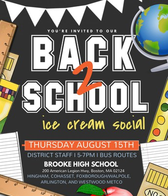 Back to School Ice Cream Social for Staff and Boston Students (Brooke High School, Boston)