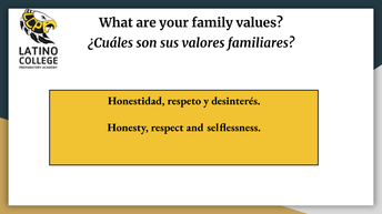 What are your family values?