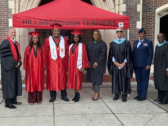 Congratulations to the Hillsborough High graduates who have joined the U.S. Army. Lanika Johnson, Ruben Melendez and Rulishia Perry were awarded their diplomas by Superintendent Davis at a special ceremony before heading to boot camp.