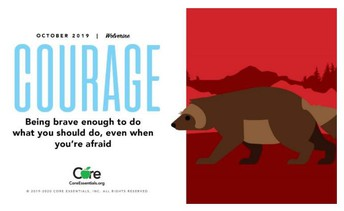Character Trait of the Month:  COURAGE