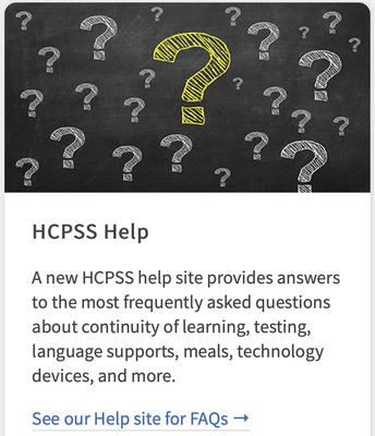 HCPSS Help