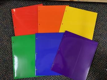Solid Color 2 Pocket Folder