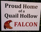 Proud Falcon yard signs