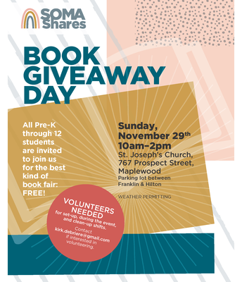 SOMA Shares:  Free Book Day, Sat., Nov. 29