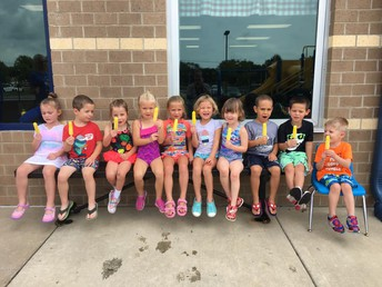 Mrs. Wells' PM Preschool class took a popsicle break during their Water Day.