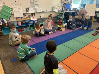 Mrs. Tipton's class shared their Show and Tell at their circle time.