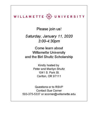 Birl Shultz Scholarship