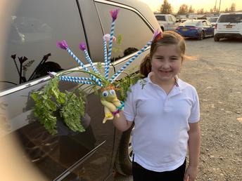 Emma's Vegi Head entry at State Fair