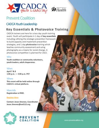 Registration Open: Washington CADCA Youth Leadership Training