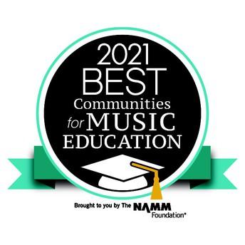 2021 Best Communities for Music Education Award Logo