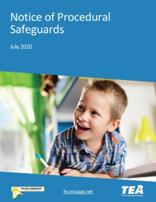 Notice of Procedural Safeguards and Parent's Guide to the ARD Process (Updated Versions)