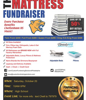 Tomorrow:  CHS Mattress Fundraiser