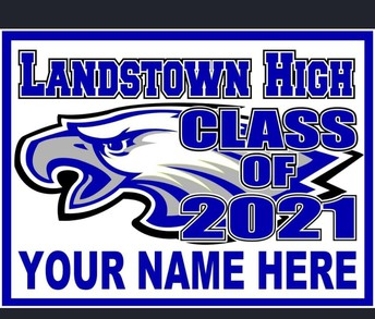 Senior Yard signs and Activity signs are also available on member hub for $25