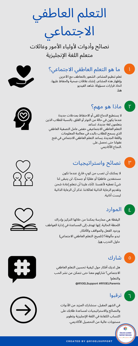 SEL Infographic in Arabic