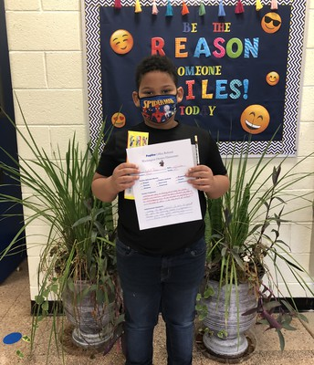 Student receives Positive Office Referral