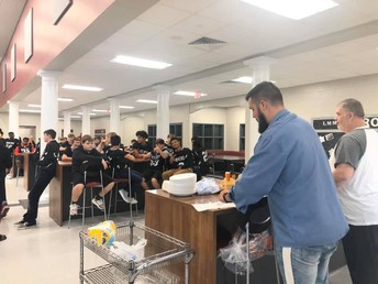 Thanks to Christian Heritage Church for preparing a great meal for our football players before their championship game.