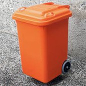 Orange Disposal Bins