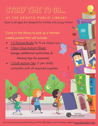 DeSoto Public Library Offers Story Time Kits for Families