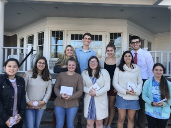 Interact Club enjoys a Thanksgiving feast with Chatham Rotary Club