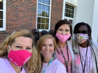 teachers wearing pink