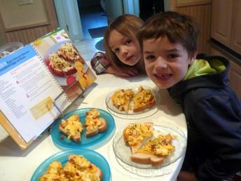 Sam L. making breakfast for his family!
